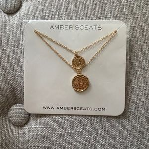 NWT Amber Sceats - gold color coin necklace